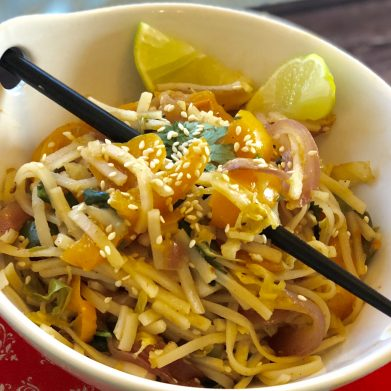 Stir-Fried Vegetarian rice Noodles -Hawker Style