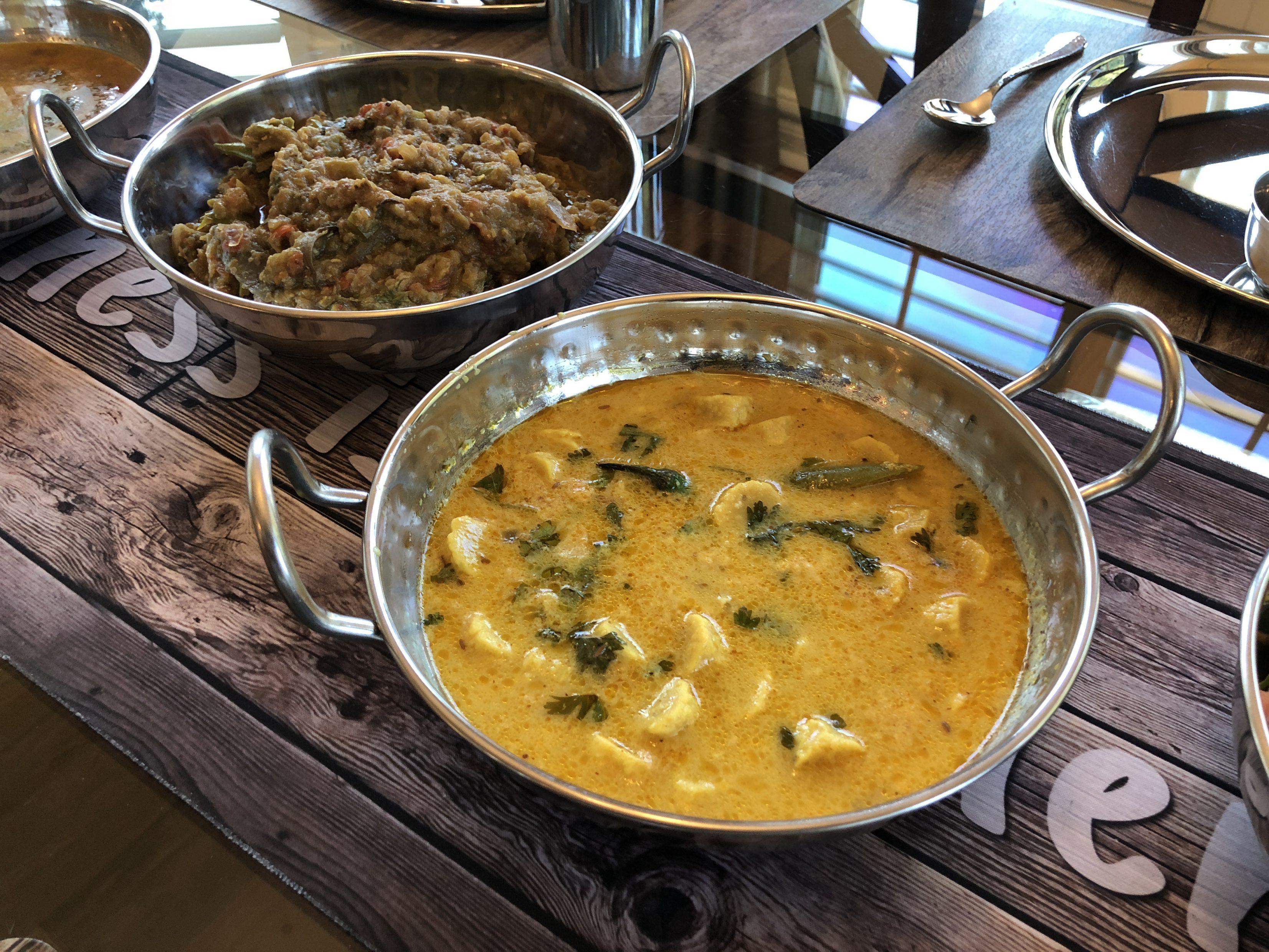 Vegan chickpea dumplings in coconut yogurt curry - Gatta  Curry !!