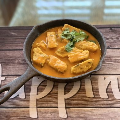 Rajasthani Pitor Sabji – Chickpea  Flour Tofu Curry – Burmese Tofu Curry