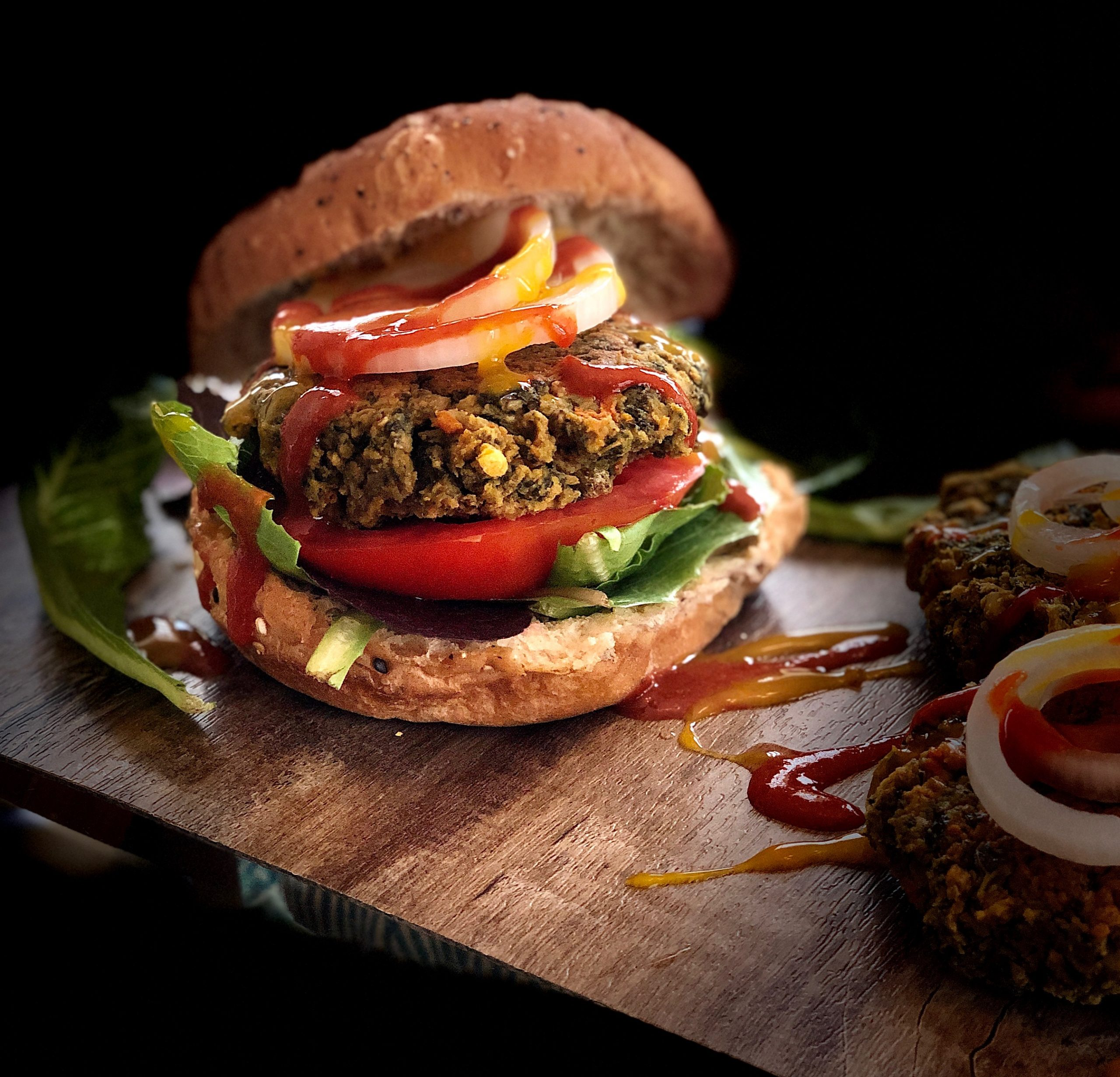 Mung Dal  and Pea Protein Vegetable Burger