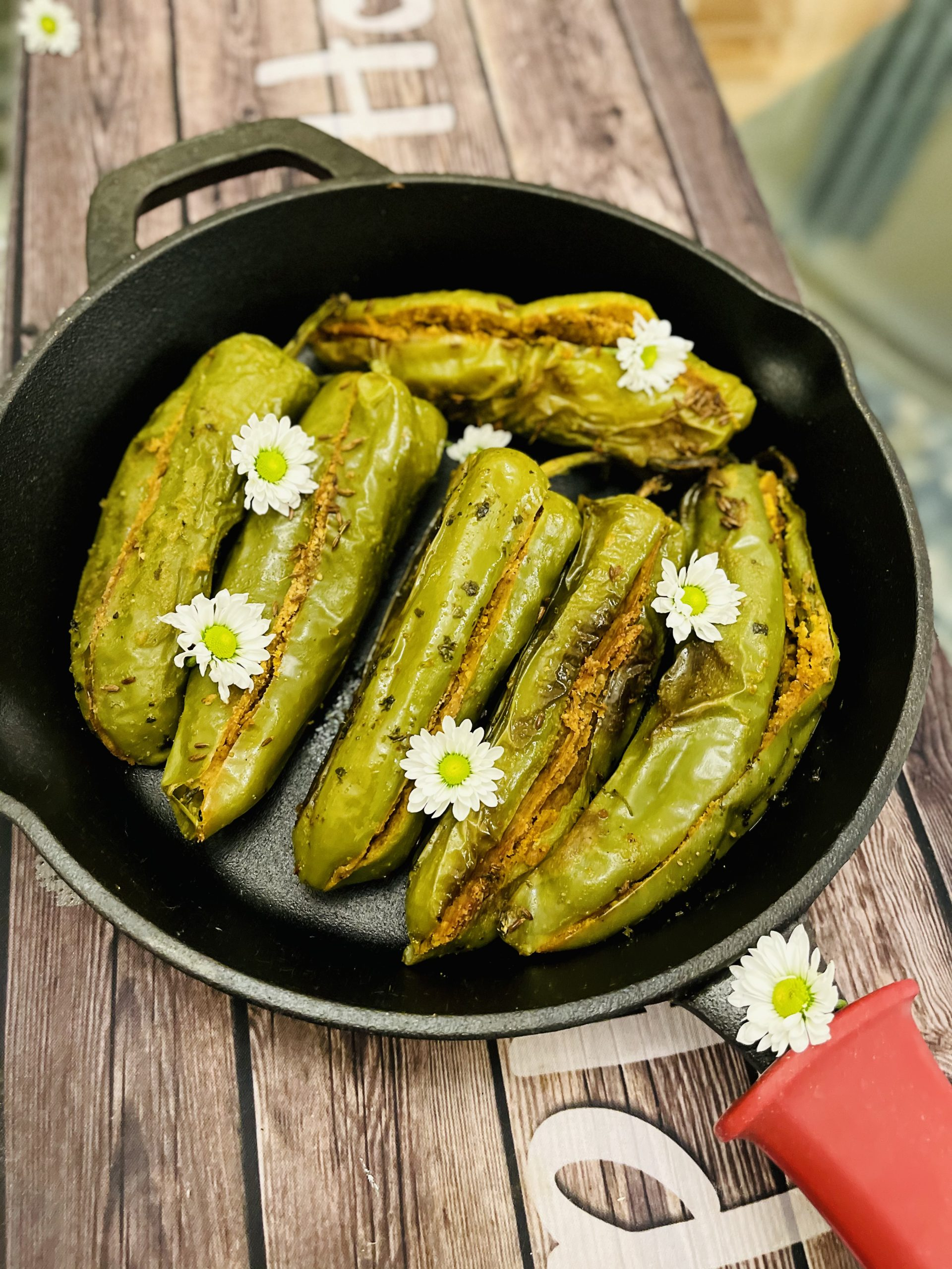 BESAN KI MIRCHI - STUFFED PEPPERS