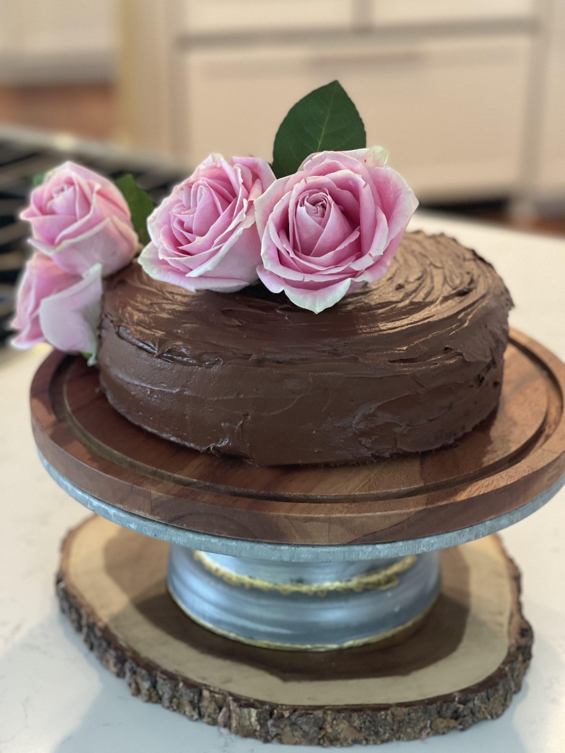 CHOCOLATE  CAKE - best ever vegan and gluten free cake